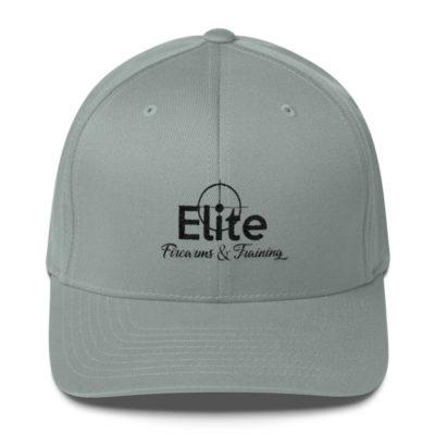 Black Logo Structured Twill Cap
